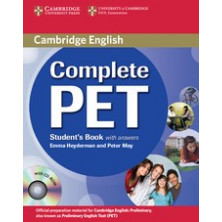 Complete PET with answers - Student's Book + CD - Cambridge