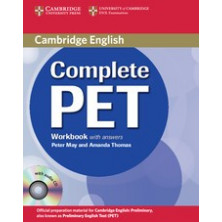 Complete PET with answers - Workbook + CD - Cambridge