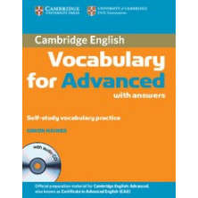 Vocabulary for ADVANCED with answers + CD - Cambridge