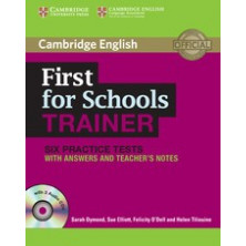 First for Schools Trainer with answers + CD - Cambridge
