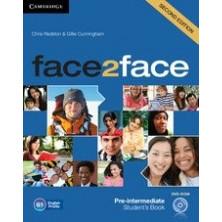 Face2face 2nd ED PRE-INTERMEDIATE - Student's Book + DVD + Online Workbook - Cambridge