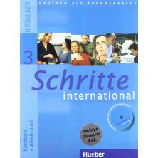 Schritte International 3: Libro del alumno + Cuaderno de ejercicios + CD + Glosario - Ed. Hueber