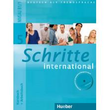 Schritte International 5: Libro del alumno + Cuaderno de ejercicios + CD + Glosario - Ed. Hueber