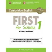 Cambridge English FIRST for School 1 for revised exam from 2015: Student's Book with answers and Audio CD - Cambridge
