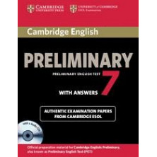 Cambridge English Preliminary 7: Student's Book with answers and Audio CD - Cambridge