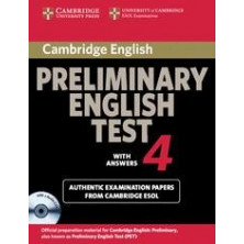 Cambridge Preliminary English Test 4: Student's Book with answers and Audio CD - Cambridge