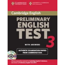 Cambridge Preliminary English Test 3: Student's Book with answers and Audio CD - Cambridge