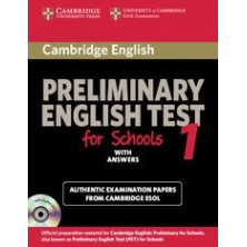 Cambridge English Preliminary for Schools 1: Student's Book with answers and Audio CD - Cambridge