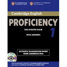 Cambridge English PROFICIENCY 1 for updated exam: Student's Book with answers and Audio CD - Cambridge