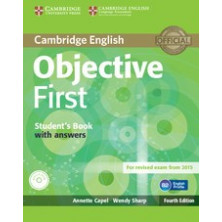 Objective FIRST with answers - Student's Book + Workbook + CDs - Cambridge
