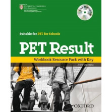 PET Result - Workbook with key + Multirom + Online practice tests - Ed. Oxford