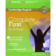 Complete FIRST for Schools without answers - PACK Students Book + Workbook + CDs - Cambridge