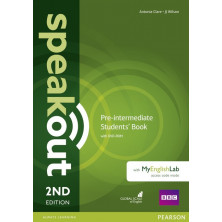 Speakout Pre-Intermediate Student's Book + DVD + Mylab Pack - Ed. Pearson