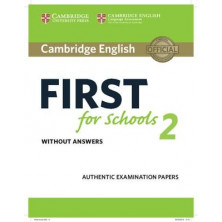 Cambridge English FIRST for School 2 for revised exam from 2015: Student's Book with answers and Audio CD - Cambridge