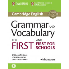 Grammar and Vocabulary for FIRST with answers + CD - Cambridge