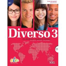 Diverso 3 - Libro del alumno + ejercicios + CD - Ed. Sgel