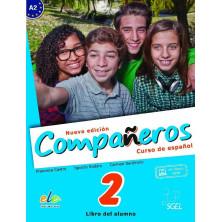 Compañeros 2 (nueva edición) - Libro del alumno + Licencia digital - Ed. Sgel