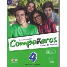 Compañeros 4 (nueva edición) - Libro del alumno + Licencia digital - Ed. Sgel
