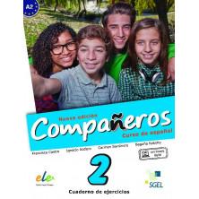 Compañeros 2 (nueva edición) - Cuaderno de ejercicios + Licencia digital - Ed. Sgel