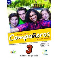 Compañeros 3 (nueva edición) - Cuaderno de ejercicios + Licencia digital - Ed. Sgel