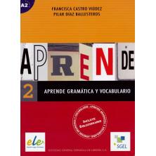 Aprende gramática y vocabulario 2 - Ed. Sgel