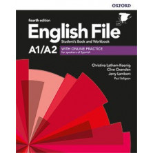 English File 4rd ed A1/A2 Student's book + Workbook with key pack - Ed. Oxford